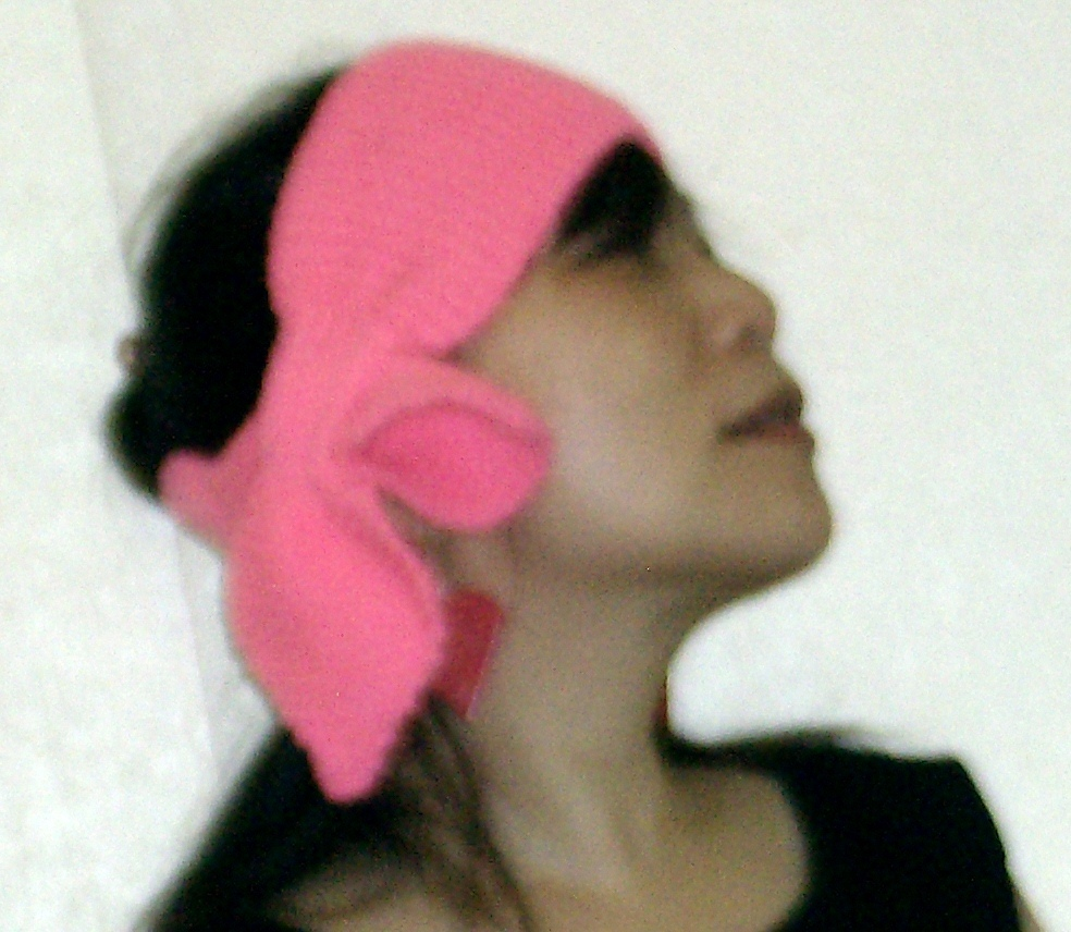 hand knitted hot pink lotus leaf neck scarf and hst easy care acrylic