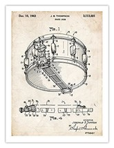 Snare Drum 1963 Patent Art Invention Poster Handmade Gicle Gallery Print Thompso - $19.80
