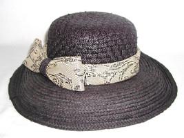 Callanan Hats Womens O/S Wide Brim Black Animal Print Snake Fashion $109... - ₨1,705.82 INR
