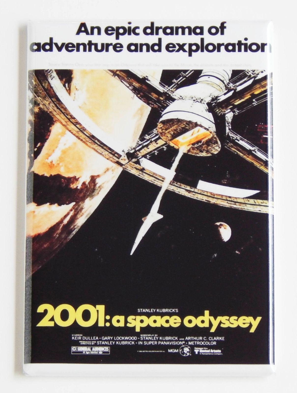 2001: A SPACE ODYSSEY MOVIE POSTER MAGNET - 2x3 INCHES STANLEY KUBRICK 2001