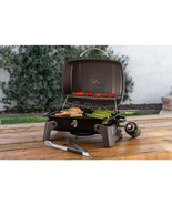 Portable Propane Grill in Black One Burner Tabletop Picnic Cooker Compac... - $87.99