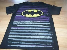 Mens Size Small 34-36 Batman Logo Bat Man Black Short Sleeve Top T Shirt New - $14.00