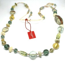 Necklace Antica Murrina Venezia, Glass Murano, Long 100 cm, Beige CO696A02 image 2