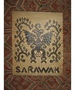 Sarawak Woven Graphic Hornbill Bird~Handmade Weaving Borneo ! - $185.00