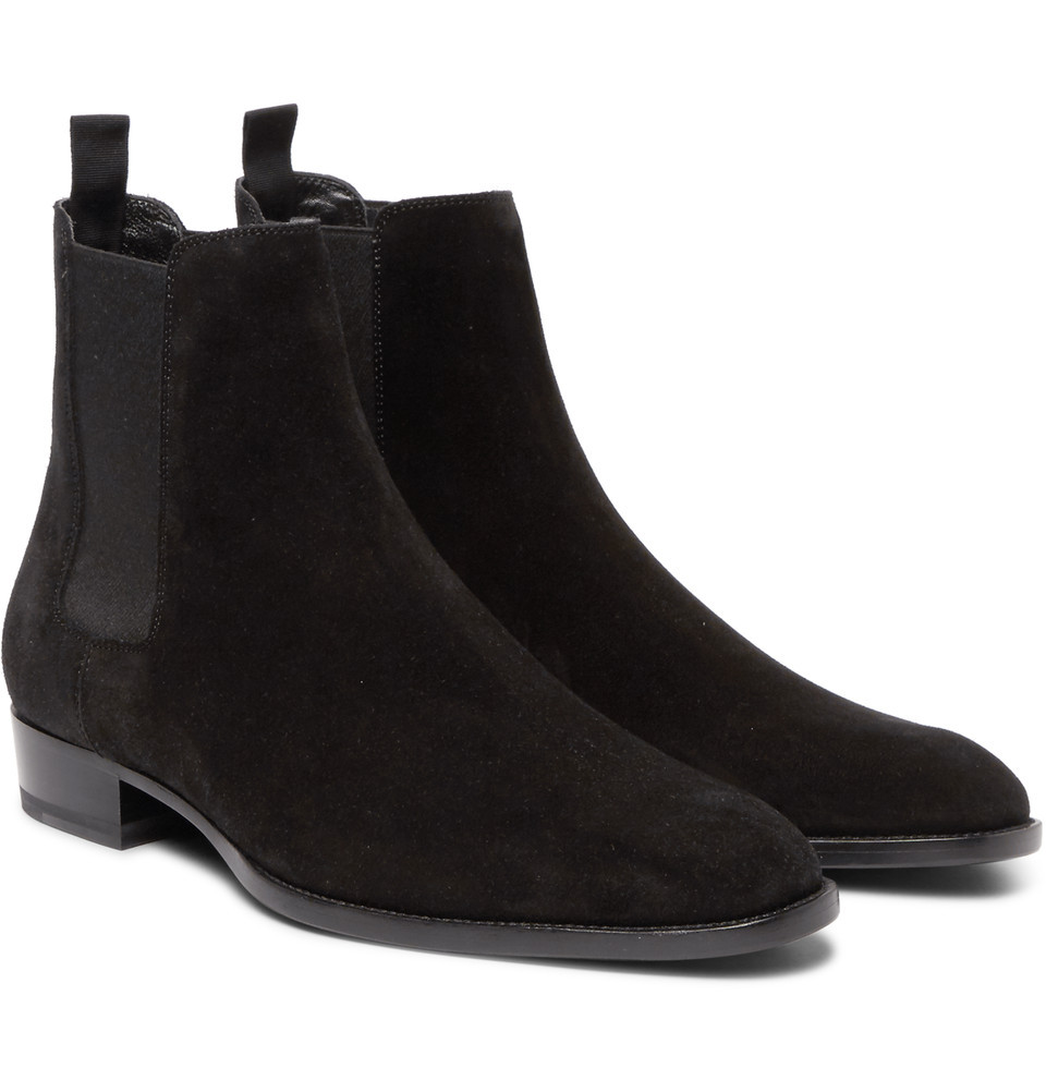 new handmade black ankle high boot suede boots
