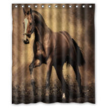 Brown Horse #01 Shower Curtain Waterproof Made From Polyester - $29.07 - $48.30