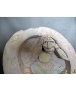 "Bas Relief Comanche One Sided Stand Alone Sculpture ""Spirit Mountain"", S... - $85.00"