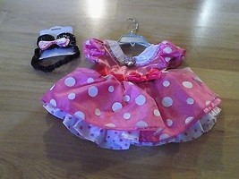Size 6-12 Months Disney Store Minnie Mouse Costume Dress & Ears Headband Pink  - $52.00
