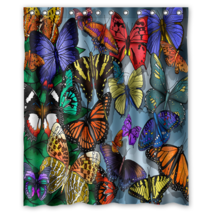 Cute Butterfly #03 Shower Curtain Waterproof Made From Polyester - $29.07+