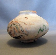 Mini Nemadji Pottery  Characteristic Swirls Vase  - $4.99