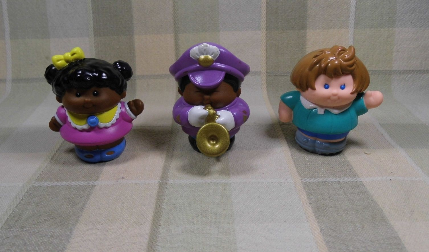 Little Tikes Chunky People Lot 3 (Saxophone Steve, Jessica, African Am Girl)