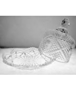 Vintage Avon pressed glass domed butter dish wi... - $15.00