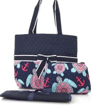 Turtle Print Quilted Diaper Bag(TUL2121NY) - $26.72