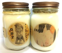 Got peaNUTS? & Pig Farts- Set of Two 16oz All Natural Soy Candles - $26.99