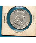 1963 D Ben Franklin Half Dollar  SILVER - High End Grade - $26.78 CAD