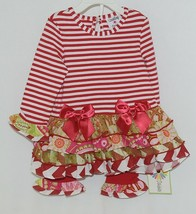 Rare editions Counting Daisies H170094 2 Piece Christmas Outfit Size 18 Months image 1