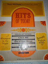 Vintage Easy All Organ Hits of Today Song Book 1967 - $4.99