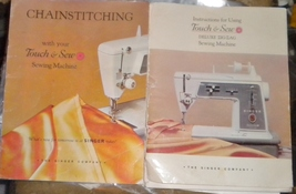 Two Singer Touch & Sew Manuals Sewing Machine & Chainstitching Complete  - $15.00