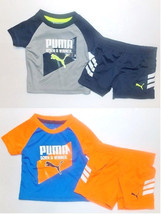 Puma Infant Boys 2pc T-Shirt and Shorts Set Size 0-3 Months NWT - $18.19