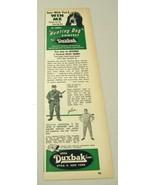 1958 Print Ad Utica Duxbak Hunting Clothes Dog Contest Bassett Hound New York - $9.89