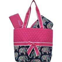 Elephant Print NGIL Quilted 3pc Diaper Bag - $24.93