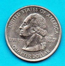 2000 D Massachusetts State Washington Quarter - Uncirculated Near Brillant - $1.25