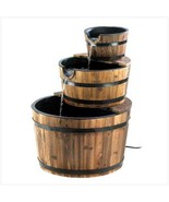 Fountain Bushel Basket outdoor style w wood trim rustic electrical decor - $99.29