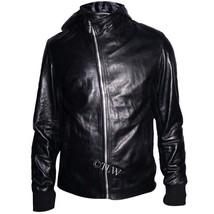MEN Biker Real Leather Jacket, Eye Catching , Motor Men Slim  - $159.00