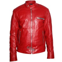 Men Biker Real Leather Jacket, Eye Catching , Motor Men Slim Fit All sizes - $159.00