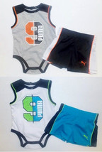 Puma Infant Boys Bodysuit and Shorts Sets 2 Choices Sizes 0-3M or 6-9M NWT - $16.24
