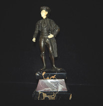 Chipparus Style Bronze and Marble Matador Statue, Signed - $1,386.00
