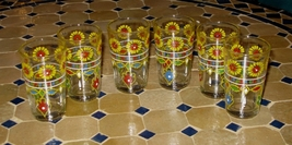 Moroccan tea glasses-Moroccan tea glasses set-Moroccan glassware- Tea gl... - $24.29