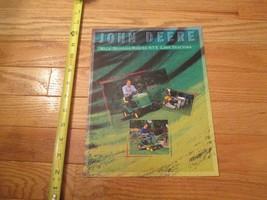 John Deere Tractors Walk behinds STX Riders Lawn Vintage Dealer sales brochure - $14.99