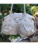 Auth botkier bianca metallic silver leather satchel handbag authenticity card thumbtall