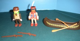 Vintage Playmobil #3397 Trapper/Indian Canoe COMP/NEAR MINT! (A) - $16.99