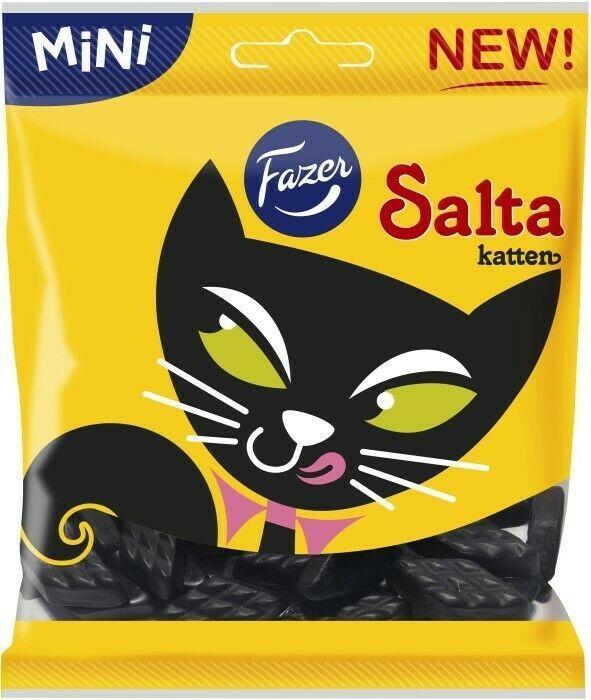 Fazer Salta Katten Salty Licorice Pastilles Made in Finland - $5.44