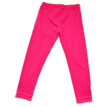 Girls Pink Cotton Blend Children's Place Pants M 7/8 fuchsia Lace Ankle - $10.22