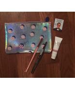 Ipsy Glam Bag Silver Makeup Beauty Beach Umbrella Print Cosmetic Bag + 4... - $15.99