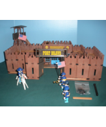 Vintage Playmobil #3773 Fort Bravo Complete/NEAR MINT! (F) (retired) - $120.00