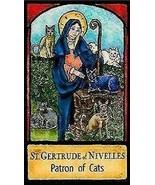 Saint Gertrude of Nivelles Patron of Cats Magnet - $5.99