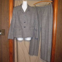 NWOT Gray Heathered Collections for Le Suit Career Party Pant Suit Size 14P - $34.65