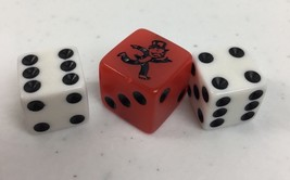 Monopoly Replacement Pieces Parts 2 Dice  1 Speed Dice 2013 game   B107 - $4.95