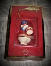 Lenox Trinket Box Porcelain Drummer Bear Hinged Vintage Christmas Ornament - $23.75