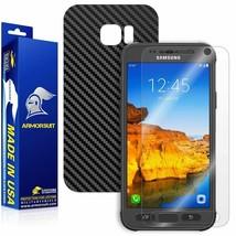 ArmorSuit- Screen+Black Carbon Fiber Full Body Skin for Samsung Galaxy S7 Active - $32.99