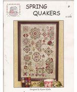 Spring Quakers Cross Stitch Pattern Sampler Val... - $11.99