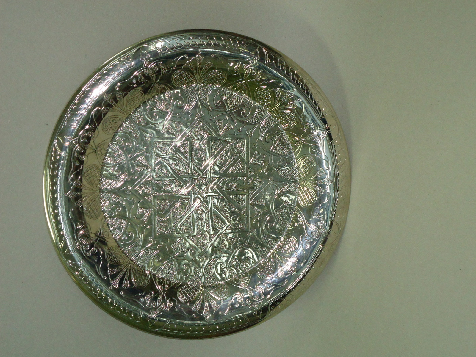 Round copper tray - $190.00