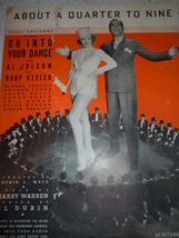 Vintage About A Quarter To Nine Sheet Music 1935 - $2.99