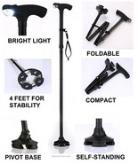 collapsible walking cane - $24.99