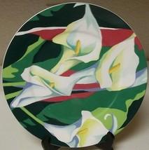 Mikasa Maxima CAM08 Rue De Lis ~ 12 1/4 Inch Serving Plate Green Flowers... - $39.59