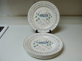 Sango Home Sweet Home ~ Set of 4 Dinner Plates ~ 11 Inch Tan - $44.54